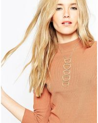 ASOS | Metallic Long Open Geo Necklace | Lyst