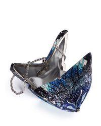 Judith Leiber | Blue Mila New Butterfly Crystal Pavé Minaudière | Lyst
