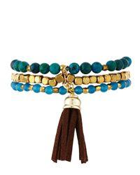 Panacea - Multicolor Three-row Quartz Pendant Bracelet - Lyst
