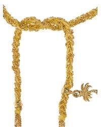 Carolina Bucci - Metallic Lucky 18kt Gold And Yellow Silk Bracelet - Lyst