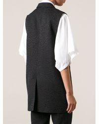 Avelon - Black 'Strip' Jacquard Waistcoat for Men - Lyst