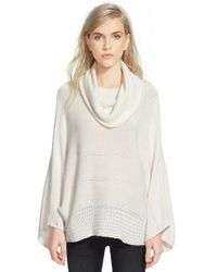 Ella Moss - White 'lya' Cowl Neck Sweater - Lyst