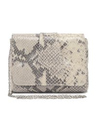 Lauren Merkin - Gray Python-embossed Calfskin Crossbody Bag - Lyst