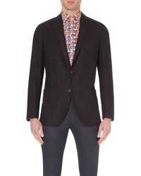 Richard James | Brown Single-breasted Hopsack Blazer for Men | Lyst