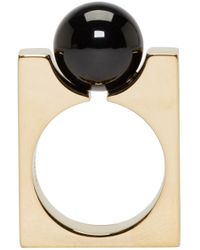 Chloé - Metallic Gold Square Darcey Ring - Lyst