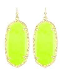 Kendra Scott | Elle Earrings Neon Yellow | Lyst