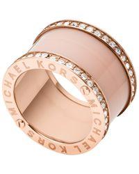 Michael Kors | Pink Blush Barrel Ring | Lyst