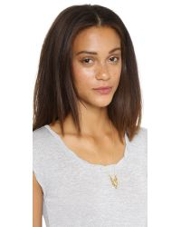 House of Harlow 1960 - Metallic Turkana Pendant Necklace - Gold - Lyst