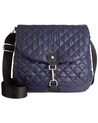Calvin Klein | Blue Cire Nylon Quilted Reversible Messenger | Lyst