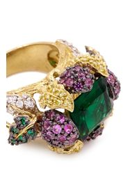 Anabela Chan | Multicolor 'greenberry' 18k Gold Solitaire Emerald Cocktail Ring | Lyst