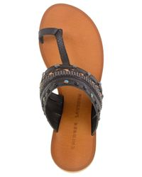 Chinese Laundry | Black Swoon Flat Thong Sandals | Lyst
