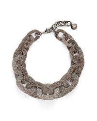 Pono - Metallic Glitter Paperchain Choker Necklace - Bronze - Lyst