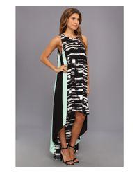 BCBGMAXAZRIA - Black Malisa Sleeveless Color Blocked Dress - Lyst