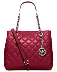 MICHAEL Michael Kors | Metallic 'susannah' Quilted Shoulder Bag | Lyst