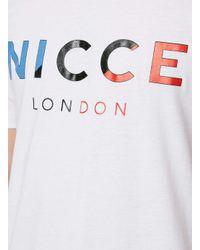 Nicce London - White Team Logo T-shirt for Men - Lyst