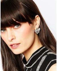 Pieces - Metallic Vega Pretty Stud Earrings - Lyst