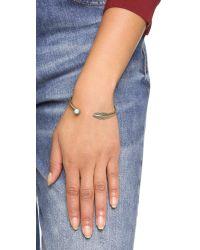 Pamela Love | Blue Pluma Cuff Bracelet - Brass/turquoise | Lyst