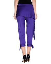 Ralph Lauren Black Label - Purple 3/4-length Trousers - Lyst