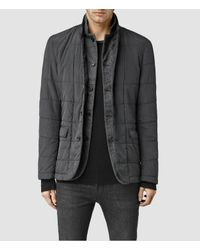 AllSaints | Gray Halsey Puffa Jacket for Men | Lyst