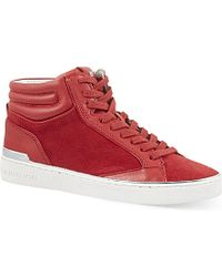 MICHAEL Michael Kors - Red Kyle High-top Trainers - Lyst