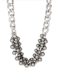 Kenneth Cole | Gray Modern Pearl Clustered Faux Pearl Necklace | Lyst