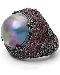 Stephen Dweck - Purple Verona Mabe Pearl & Rhodolite Garnet Ring - Lyst
