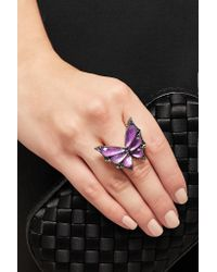 Stephen Webster - Purple Fly By Night 18-karat White Gold Multi-stone Ring - Lyst