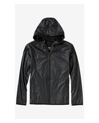 Express - Tech Water Resistant Zip-up Black Jacket for Men - Lyst
