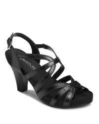 Aerosoles | Black Headliner Leather Sandals | Lyst