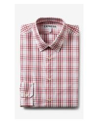 Express | Red Extra Slim Plaid Dress Shirt for Men | Lyst