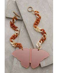 Anthropologie - Pink Caligo Butterfly Necklace - Lyst