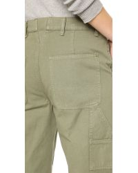 Tory Burch - Green Carpenter Pants - Agave - Lyst