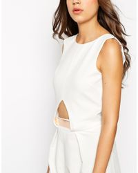 ASOS - White Tall Tailored Jumpsuit With Metal Bar - Lyst