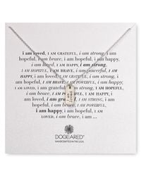 """Dogeared - Metallic I Am Loved Small Dog Tag Necklace, 18"""" - Lyst"""