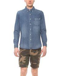 Baldwin Denim - Blue William Sport Shirt for Men - Lyst
