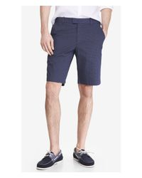Express - Blue Microdot Print Dress Shorts for Men - Lyst
