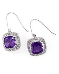 Effy | Purple 2.77 Tcw Espresso Diamond, White Diamond & 14k Rose Gold Petal Earrings | Lyst