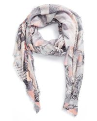 Lily and Lionel - Natural 'Metropolis' Silk & Modal Scarf - Lyst