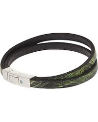 Tateossian | Xxv Anniversary Scoubidou Nature-print Bracelet, Men's, Green for Men | Lyst