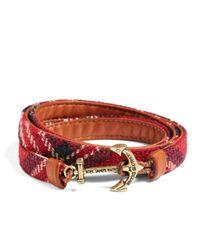 Brooks Brothers | Red Kiel James Patrick Signature Tartan Wrap Bracelet for Men | Lyst