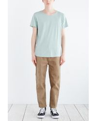 BDG - Blue Standard-fit Pigment-dyed Wide Neck Tee for Men - Lyst