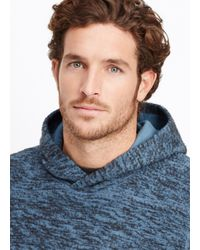 Vince - Blue Marled Cotton Blend Pullover Hoodie for Men - Lyst