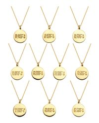 Coordinates Collection - Metallic 22k Gold-plated Cove Pendant Necklace - Lyst