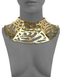 Josie Natori - Metallic Cutout Collar Necklace - Lyst