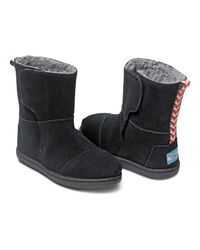TOMS - Black Suede Tiny Nepal Boots - Lyst