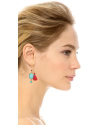Gas Bijoux | Blue Serti Bamboo Earrings - Turquoise Multi | Lyst
