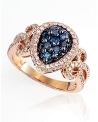Effy | Blue Diamond And 14k Rose Gold Ring, 0.91 Tcw | Lyst