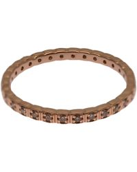 Anna Sheffield | Pink Rose Gold Champagne Diamond Wheat Eternity Ring | Lyst