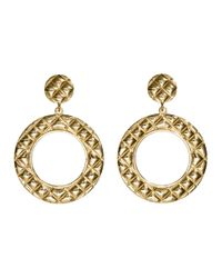 H&M | Metallic Round Earrings | Lyst