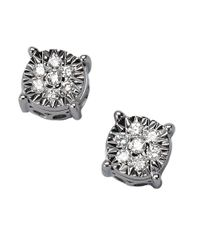 Effy | Multicolor Classique 14kt White Gold 0.21 Ct T W Diamond Stud Earrings | Lyst